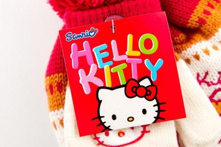 Czapka rękawiczki HELLO KITTY